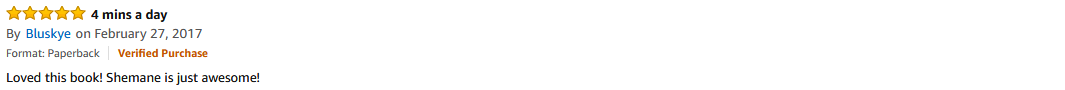 Amazon Review - Bluskye