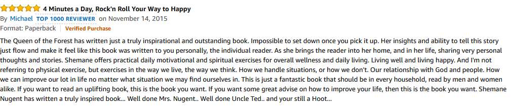 Amazon Review - Michael