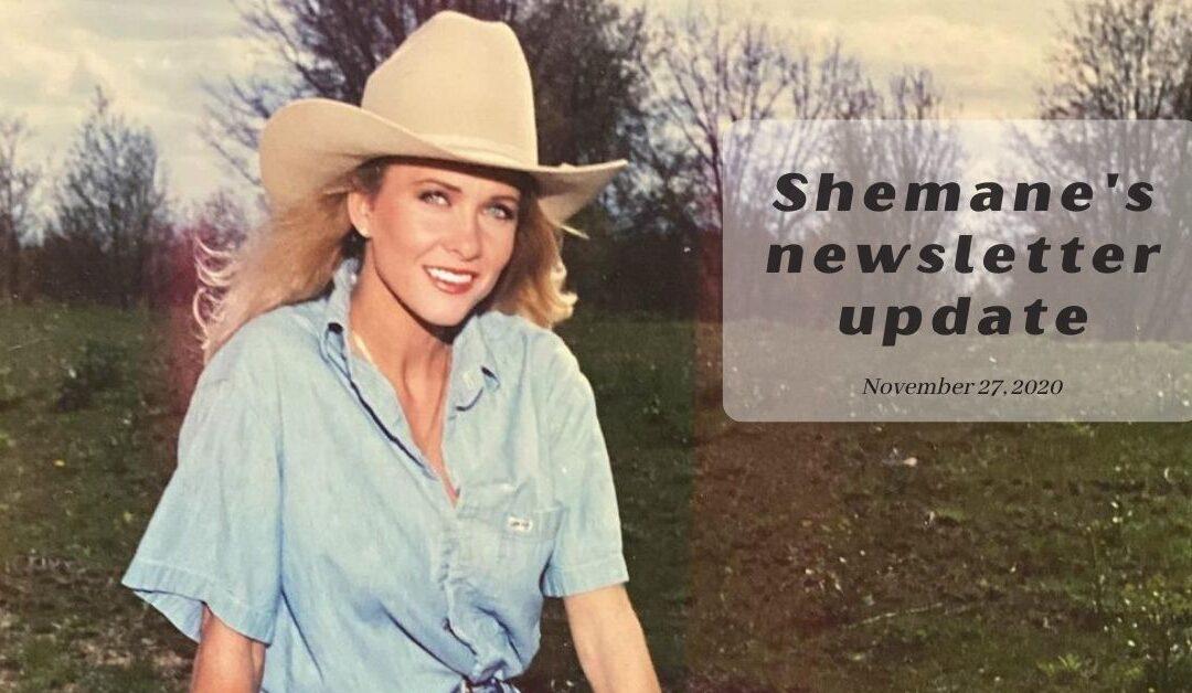 Shemane's Newsletter Update – November 28, 2020