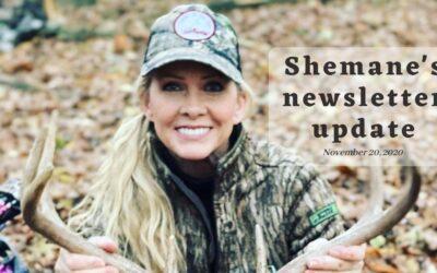 Shemane's Newsletter Update – November 20, 2020