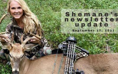 Shemane's Newsletter Update –September 17, 2021